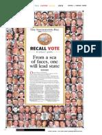 Sacramento Bee recall voter guide cover