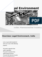 Legal Environment and pharma industry