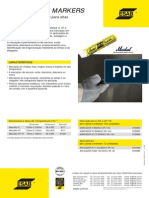 Catálogo de Marcador de Alta Temperatura - OK ESAB - 2010  - 1p