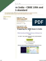 CBSE Exam India - CBSE 10th and CBSE 12th