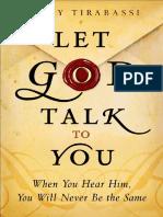 Let God Talk to You