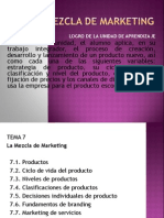 Clase 4 - Tema 7 La Mezcla de Marketing