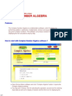 Complex Number Algebra Software