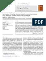 Development of envelope efficiency labels for commercial buildings