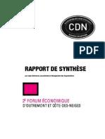 Synthèse Forum 2008