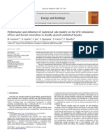 Performance and influence of numerical sub-models on the CFD simulation of free and forced convection in double-glazed ventilated fac¸ades