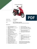 Spesifikasi Mtr Mio Sporty