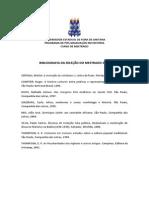 Bibliografia da Seleção do Mestrado  2014 (1)