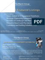The March Group - Featured Businesses for Sale, July 2009