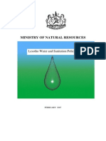 Lesotho Water and Sanitation Policy