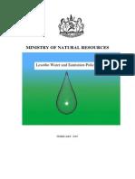 Lesotho Water and Sanitation Policy