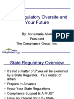 Mortgage Compliance State Regulatory Oversite