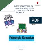 APRENDIZAJE Y DESARROLLO EN VYGOTSKY y su aplicación en el aula en ESTUDIO Y COMPRENSIÓN DE LA SOCIEDAD