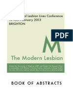 Annual Lesbian Lives Conference 2013