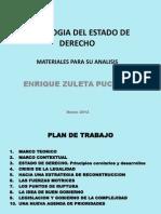 Sociologia Del Estado de Derecho. Presentacion. Marzo 2012