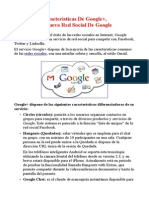 Características De Google+, La Nueva Red Social De Google