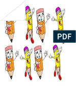 Pensil Cartoon Decoration