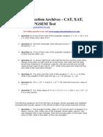 TANCET Maths Model Paper