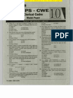 IBPS CWE Clerical Model Paper 10