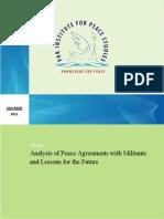 Analysis of Peace Agreements with Militants by Sohail Habib Tajik
