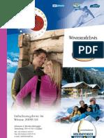 Winter Journal Winterpreise Hotel Kristall Grossarl 2009 2010