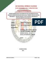 DISEÑO HIDROLÓGICO DE MURO DE ENCAUZAMIENTO EN EL MARGEN DERECHO DEL RIO HUALLAGA