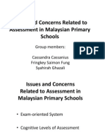 Issues and Concerns Related to Assessment in Malaysian