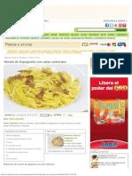 Receta de Espaguetis con salsa carbonara - Karlos Arguiñano