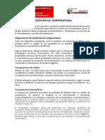 MEDICIÓN DE TEMPERATURA Y USO DE CARTAS PSICROMÉTRICAS