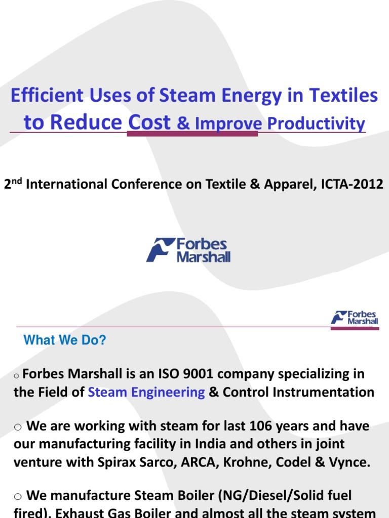 Efficient Uses of Steam Energy | Boiler | Steam
