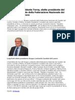 Luigi Roth Presidente Terna Eletto Presidente Gruppo Lombardo Federazione Nazionale Cavalieri Del Lavoro