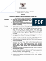 KMK No. 779 Ttg Standar Pelayanan Anestesiologi Dan Reanimas