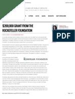 $200,000 Grant From the Rockefeller Foundation | Code for America