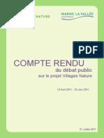 Compte Rendu Du Debat Public Villages Nature