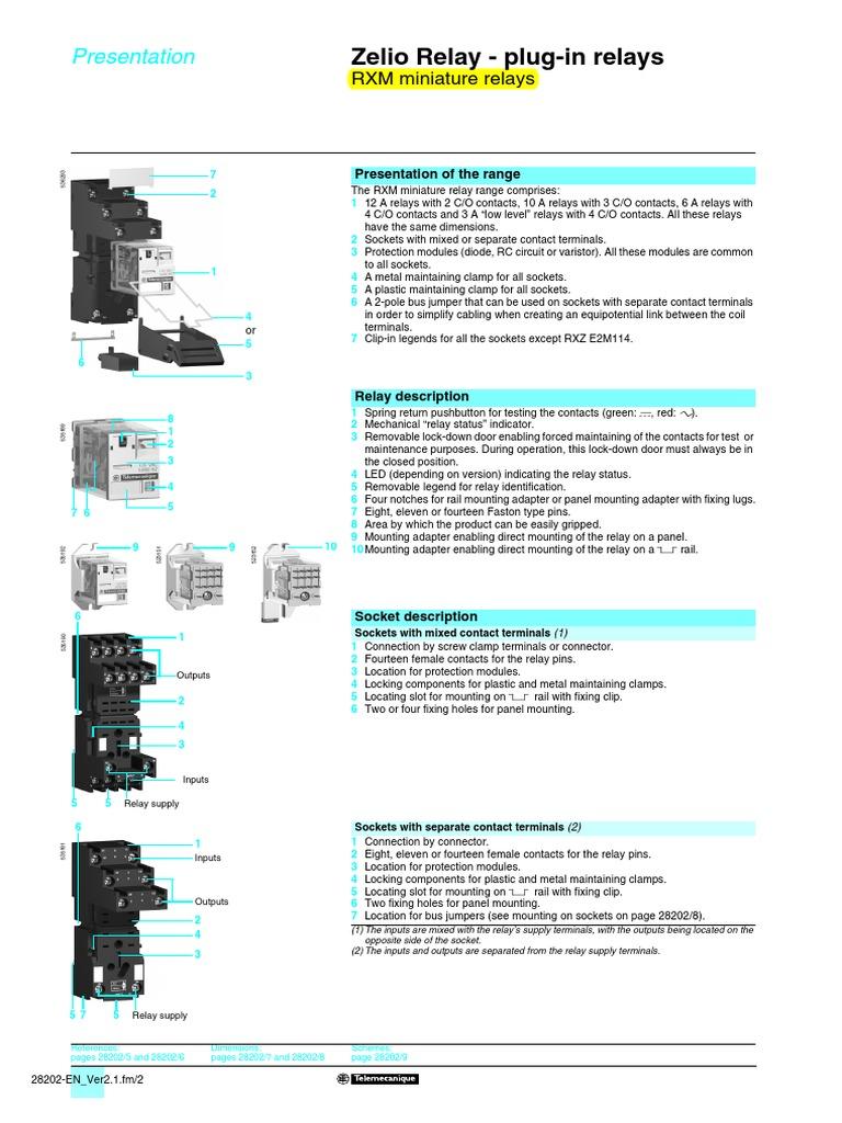01 Rxm Plugin Relaypdf Electrical Connector Relay Terminal Codes