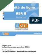 Presentation Du STIF Au Comite de Ligne RER B Du 6 Juillet 2012