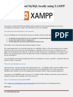 Installing PHP and MySQL Locally Using XAMPP