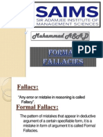 Formal fallacies in Logic