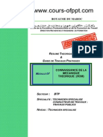 Connaissance de La Mecanique Theorique RDM BTP TSCT