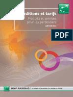 Tarifs BNP Paribas 1er Janvier 2013