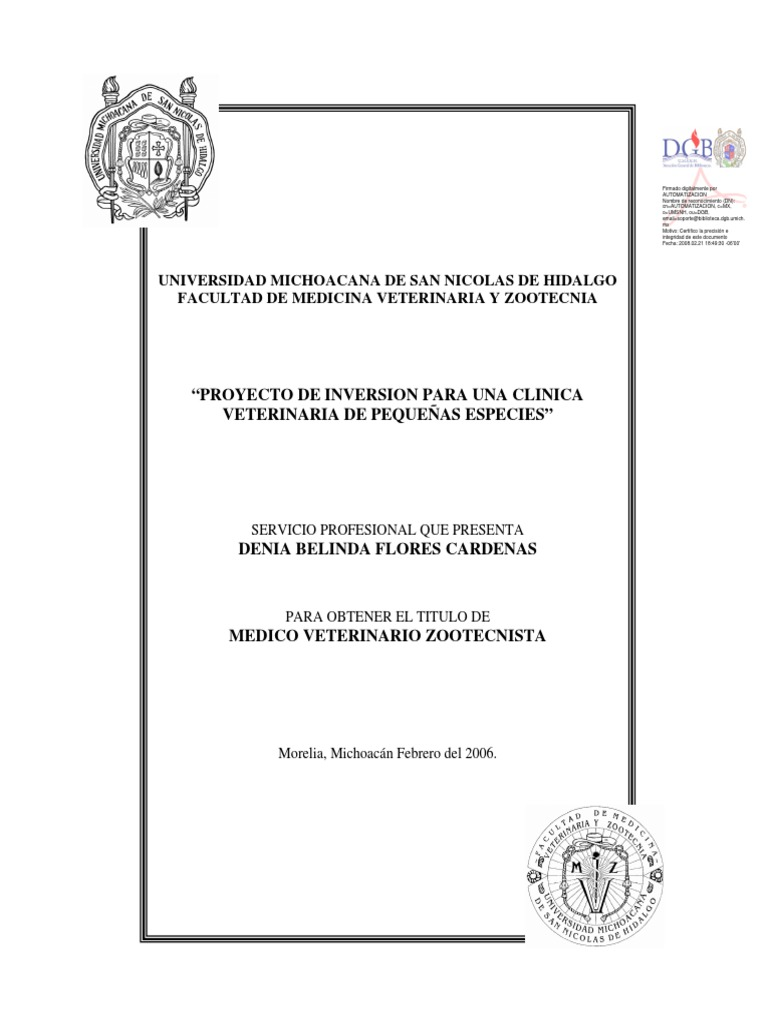 Proyecto de inversion clinica veterinaria - Proyecto clinica veterinaria ...