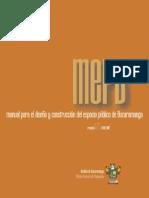 MEPB ( Manual Para El Diseno y Construccion Del Espacio Publico en Bucaramanga ) Rv 1.2