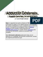 Abduccion Extraterrestre y Posesion Demoniaca