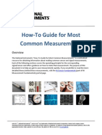 How-To Guide for Most Common Measurements