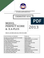 Modul Perfect Score SBP Chemistry SPM 2013