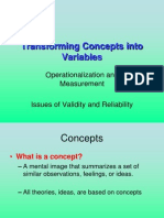 Transforming Concepts Into Variables
