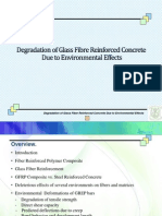 Degradation of Glass Fiber Reinforced Concrete Due to Environmental effects.ppt