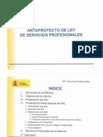 Anteproyecto de Ley de Servicios Profesionales 20-12-2012