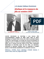 Archives sur le dossier Haïtiano-Dominicain L'Église Catholique et le massacre de Trujillo en octobre 1937