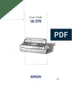 Epson Lq-2170 User Guide